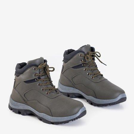 Чоловічі трекінгові черевики в кольорі хакі Hurag - Взуття