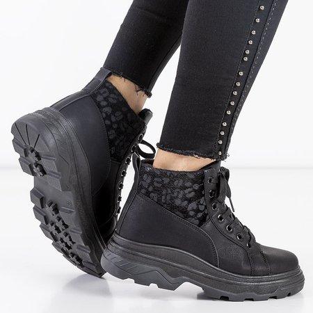 Чорне жіноче утеплене спортивне взуття Fturen - Взуття