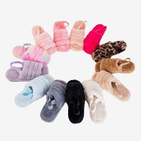 Чорні жіночі тапочки з хутром Fornax - Взуття