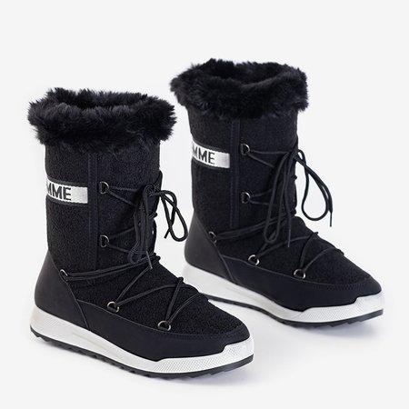 Чорні жіночі утеплені чоботи Columbita - Взуття
