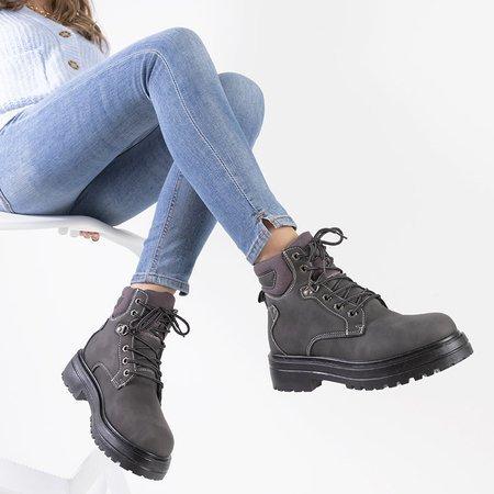 Графітові жіночі теплі черевики Paventia - Взуття