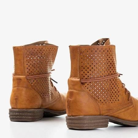 OUTLET Коричневі жіночі ботильйони з ажурним Fasberg - Взуття