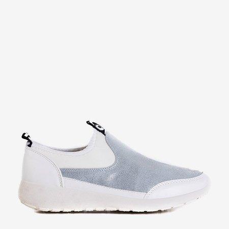 OUTLET Біле та сріблясте жіноче спортивне взуття Jadena - Взуття