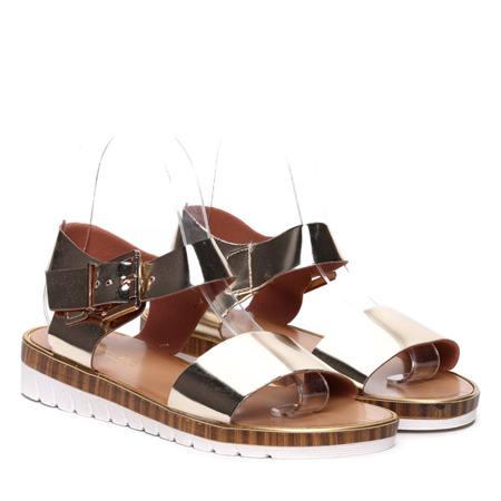 Złote sandałki- Obuwie