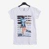 Біла жіноча футболка з принтом - Блузки 1