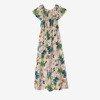 Біле плаття з квітковим принтом - Одяг 1
