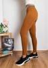 Жіночі коричневі гетри з блиском - Одяг