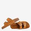 Коричневі жіночі шльопанці з пряжками Selemaia - Взуття 1
