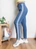 Сині спортивні штани в смужку - Одяг