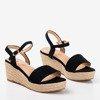 Чорні босоніжки на клині Polianna - Взуття 1
